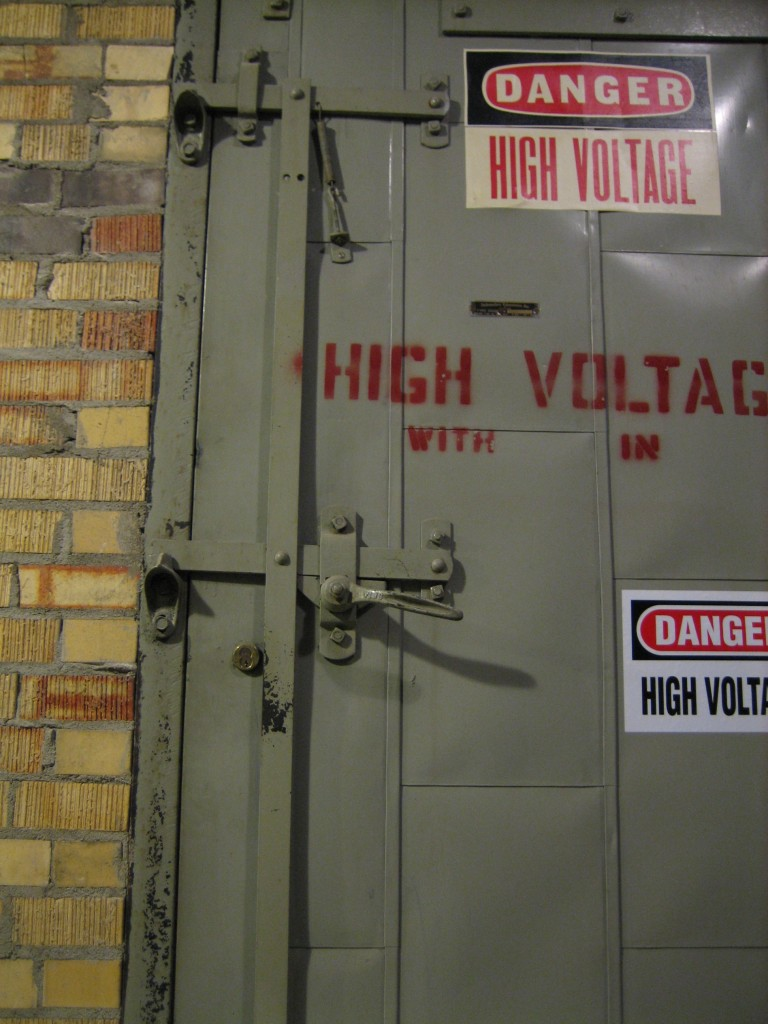 Danger !  Danger!  High Voltage!